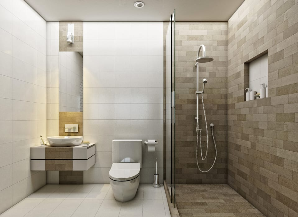 Moderne Badezimmer von LOFT ESTUDIO arquitectura y diseño Modern Keramik