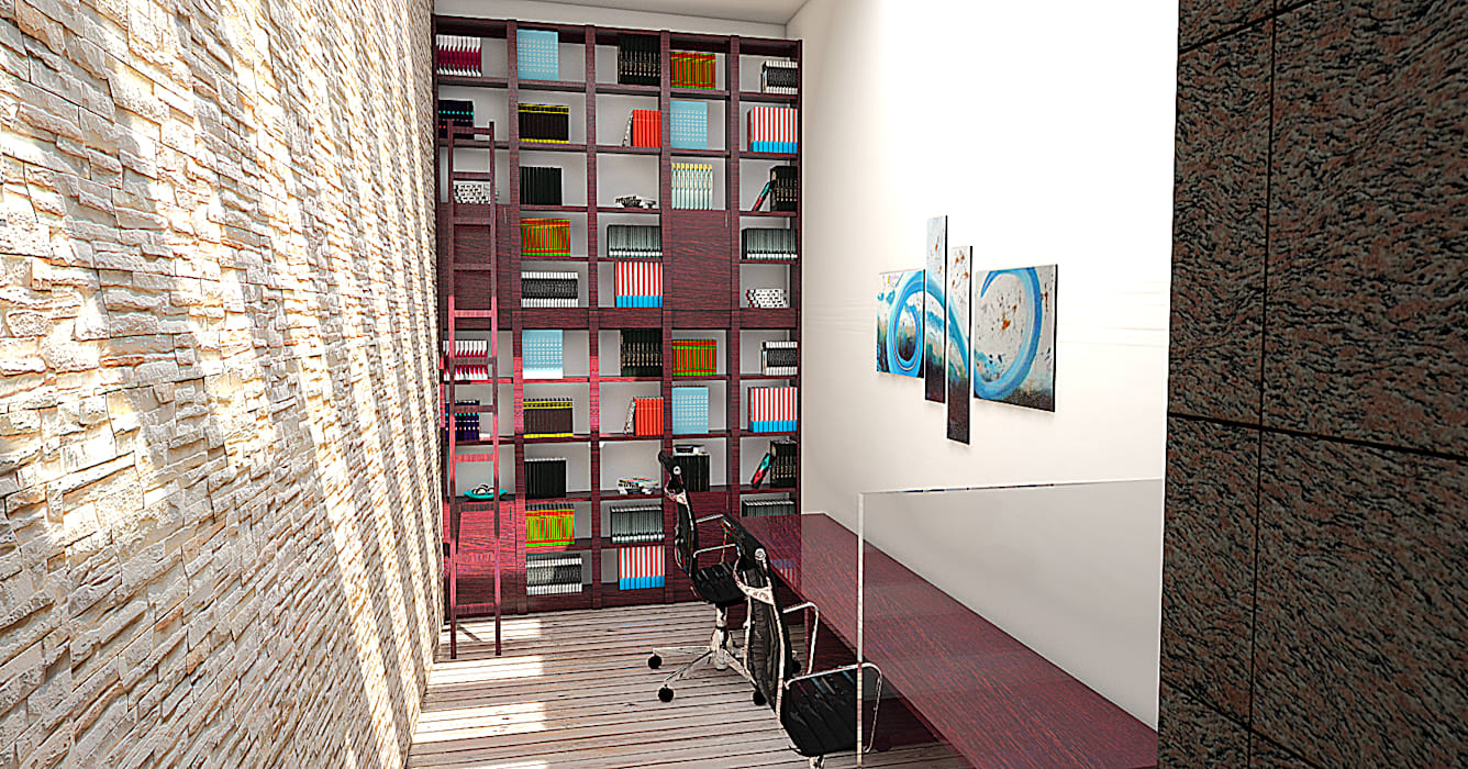 Estudio: Casas de estilo moderno por PRISMA ARQUITECTOS