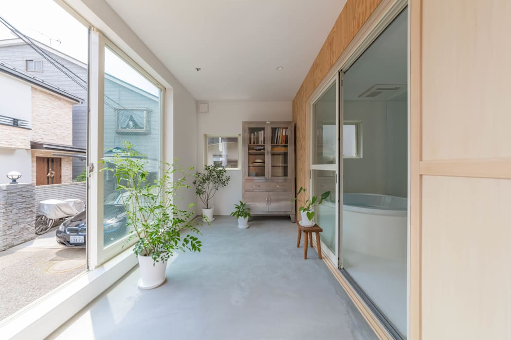 Conservatory by 水石浩太建築設計室/ MIZUISHI Architect Atelier