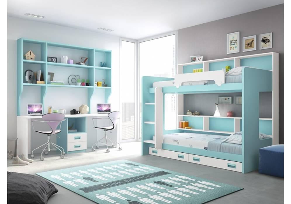 Juvenil Muebles Soliño Cuartos infantiles de estilo moderno Madera Azul
