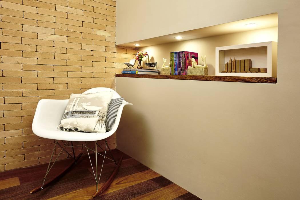 ESCRITÓRIO 34M²: Edifícios comerciais  por Elisa Vasconcelos Arquitetura  Interiores,