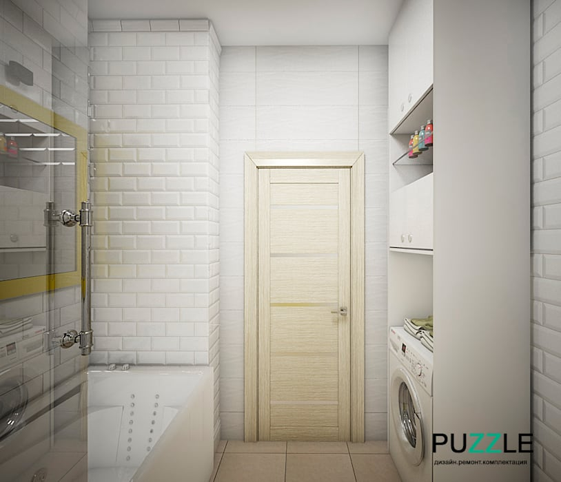 Modern style bathrooms by PUZZLE Modern