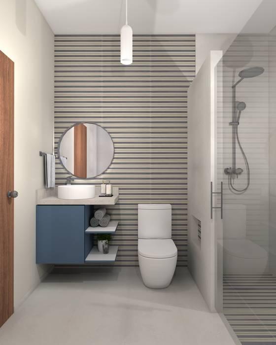 Minimalist bathroom by Constructora e Inmobiliaria Catarsis Minimalist Ceramic