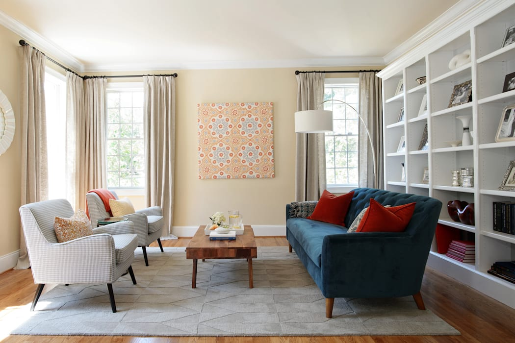 Eclectic Living Room:  Living room by Larina Kase Interior Design