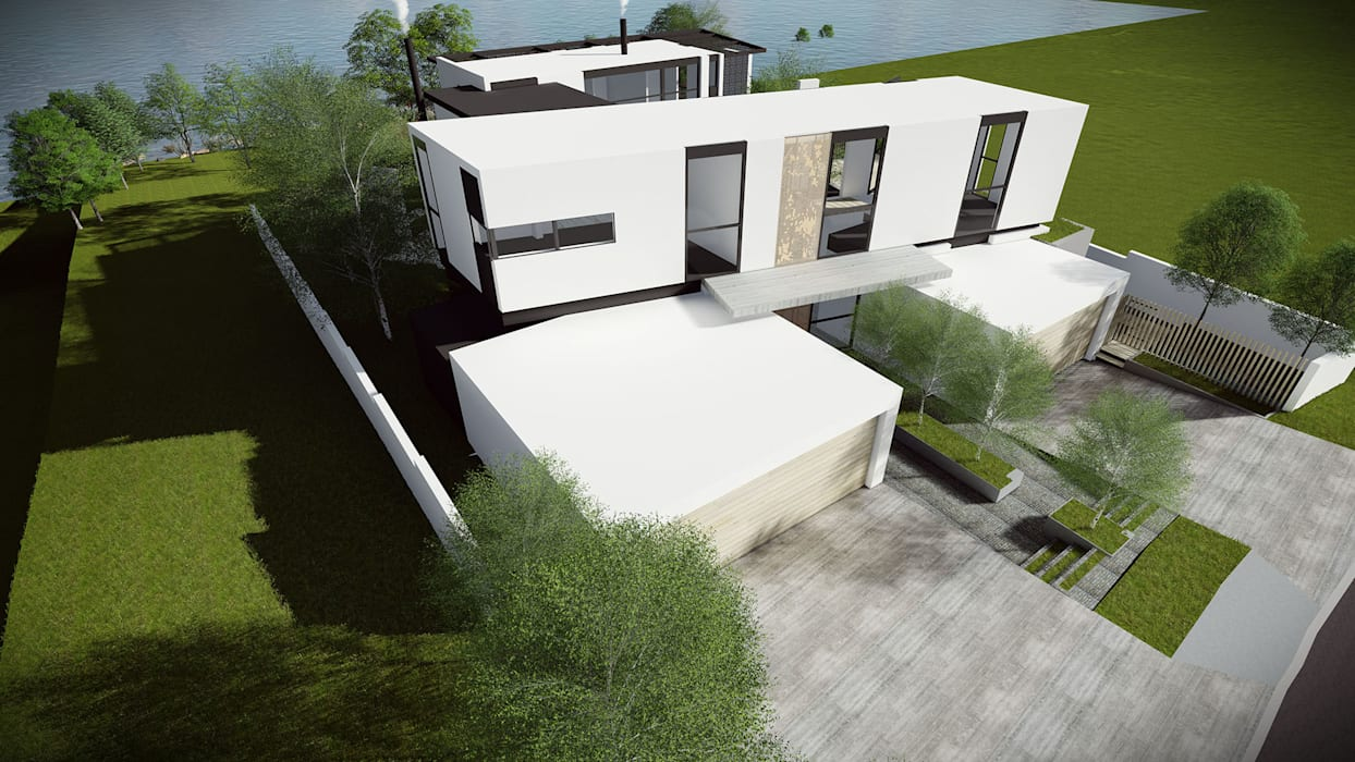 Courtyard House: minimalist  by Two Five Five Architects, Minimalist