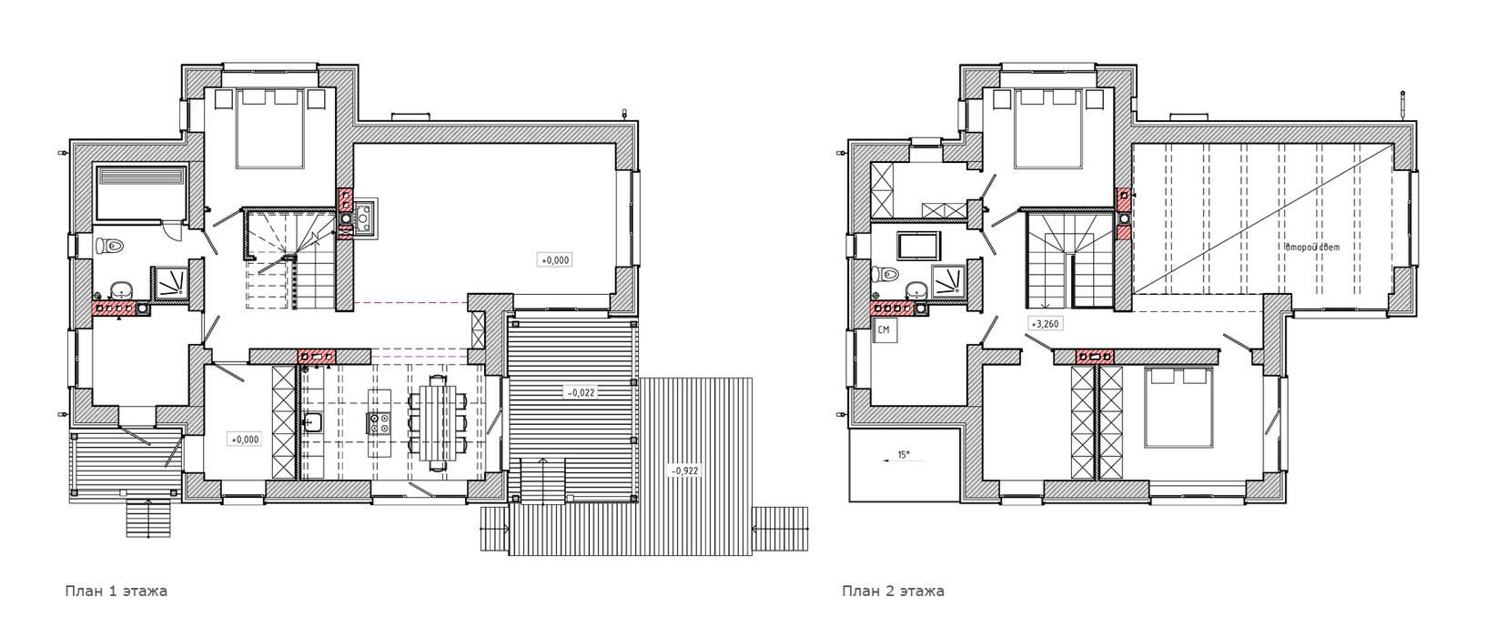 Maisons de style  par Studio of Architecture and Design 'St.art', Scandinave