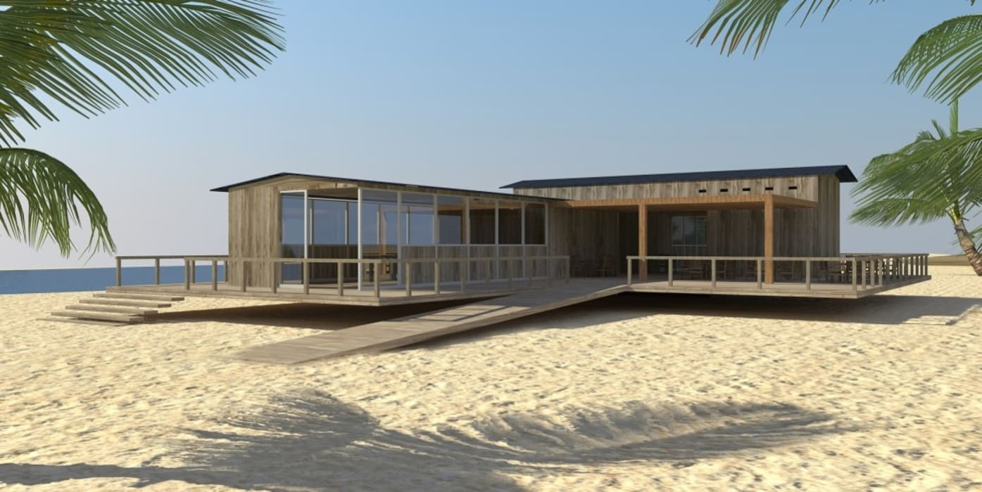 Club house de playa Casas modernas: Ideas, diseños y decoración de Nicolás Bello Moderno
