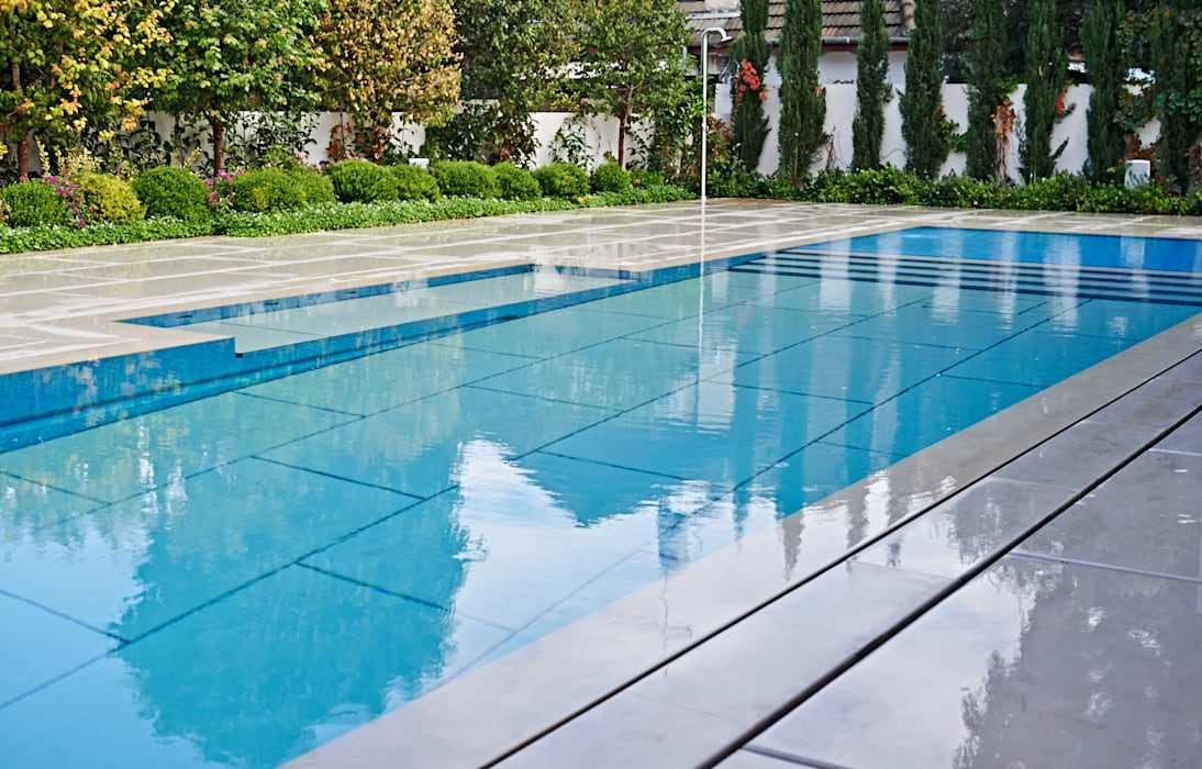 Stone covered Movable Floors:  Pool by AGOR Engineering, Modern