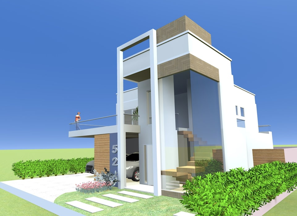 Casas de estilo moderno de Adriana Beluomini Moderno Hormigón