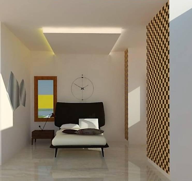Dormitorios de estilo  por Urban Shaastra ,