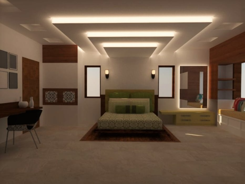 Master Bedroom:  Bedroom by Urban Shaastra