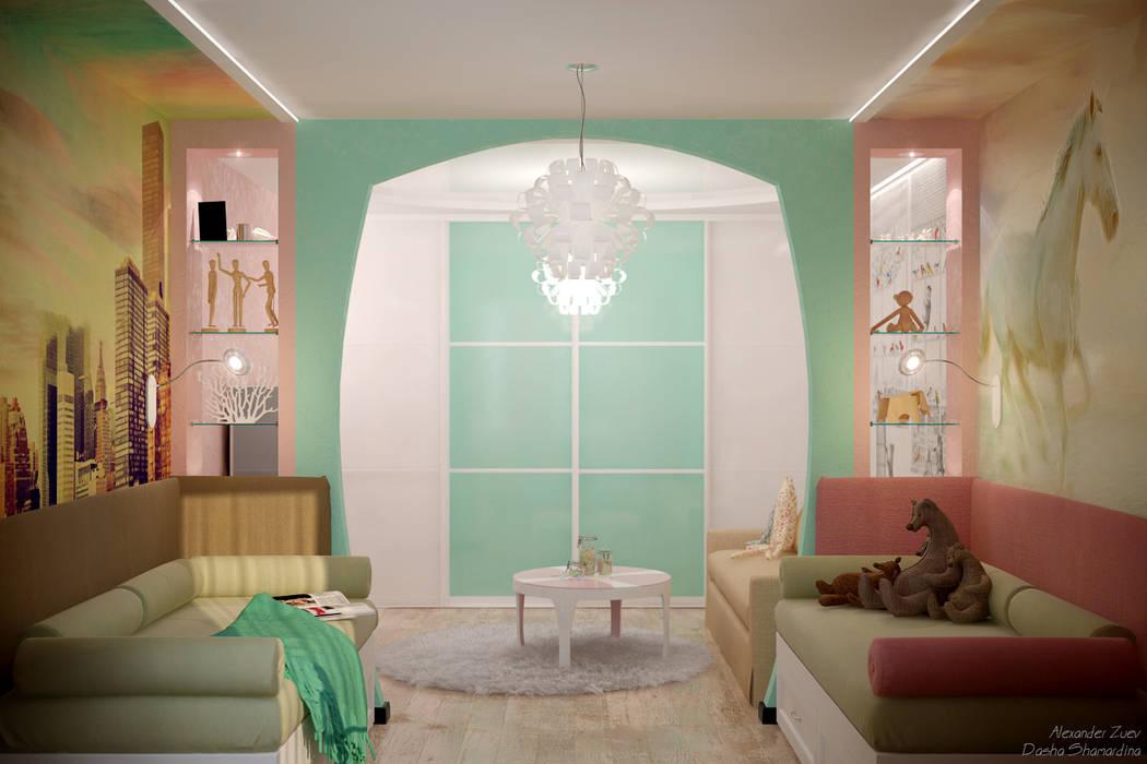 Дизайн детской для девочек Детская комната в стиле модерн от Студия интерьерного дизайна happy.design Модерн
