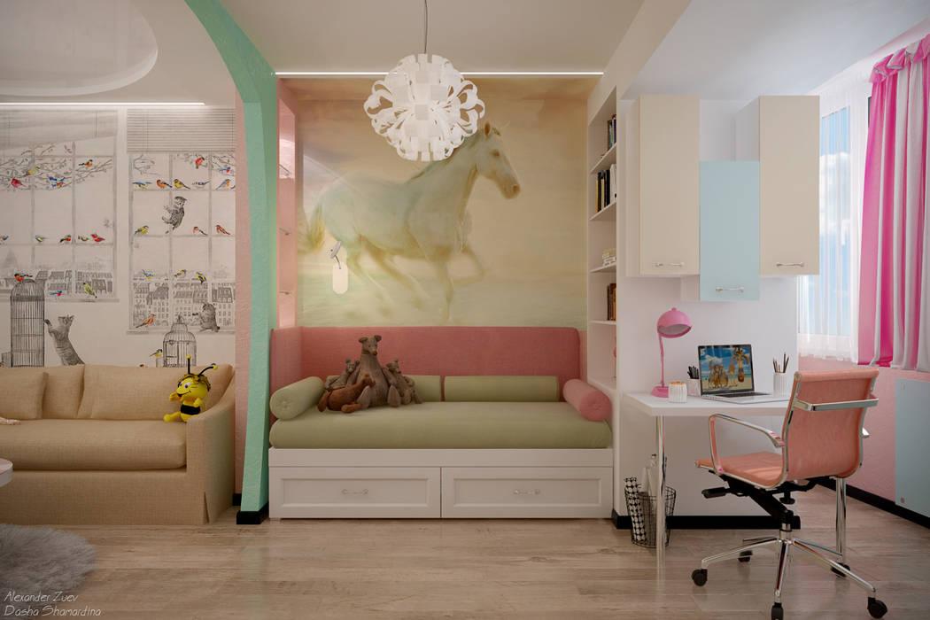 Quartos de criança modernos por Студия интерьерного дизайна happy.design Moderno