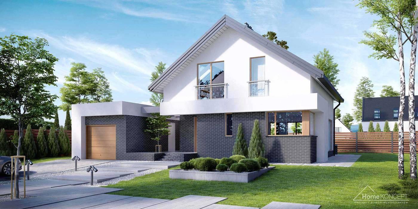โดย HomeKONCEPT | Projekty Domów Nowoczesnych โมเดิร์น คอนกรีต