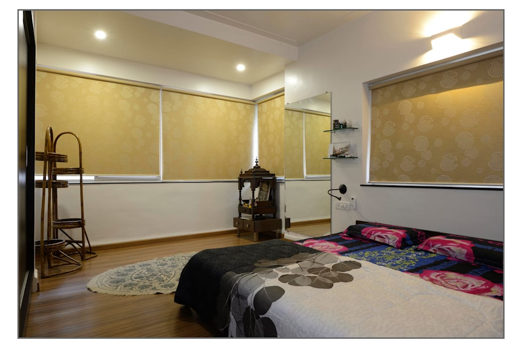 Master bedroom: modern Bedroom by Navmiti Designs
