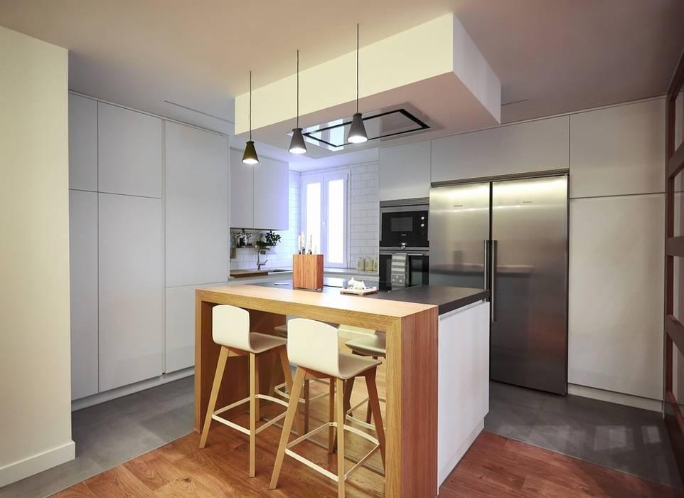 Modern kitchen by Línea 3 Cocinas Madrid Modern