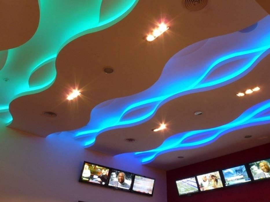 Modern Multimedya Odası Iluminación LED Modern
