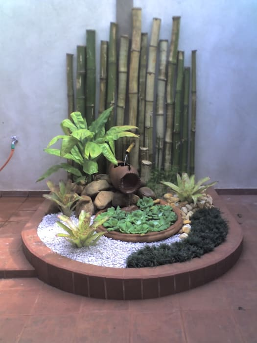 Jardines de estilo  por Borges Arquitetura & Paisagismo, Moderno