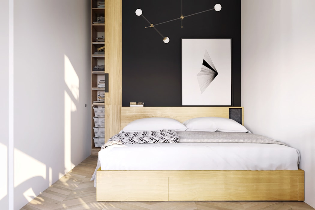 homify Minimalist bedroom White