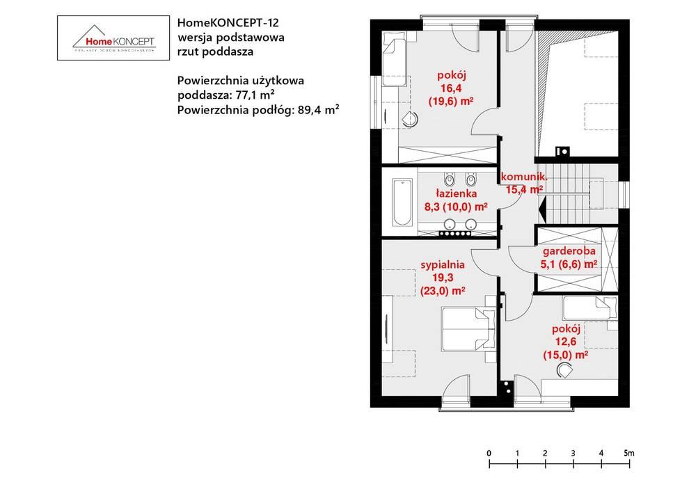 Casas de estilo  por HomeKONCEPT | Projekty Domów Nowoczesnych,