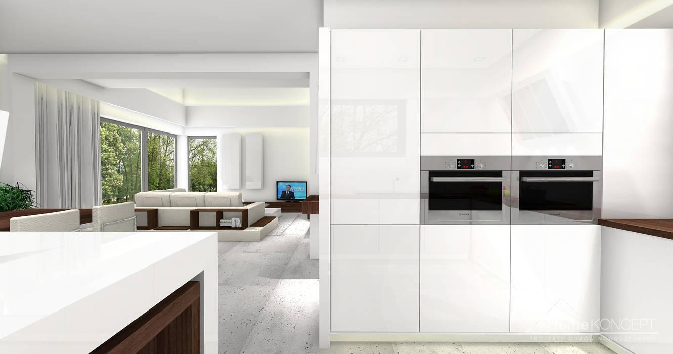 Cocinas de estilo  por HomeKONCEPT | Projekty Domów Nowoczesnych,