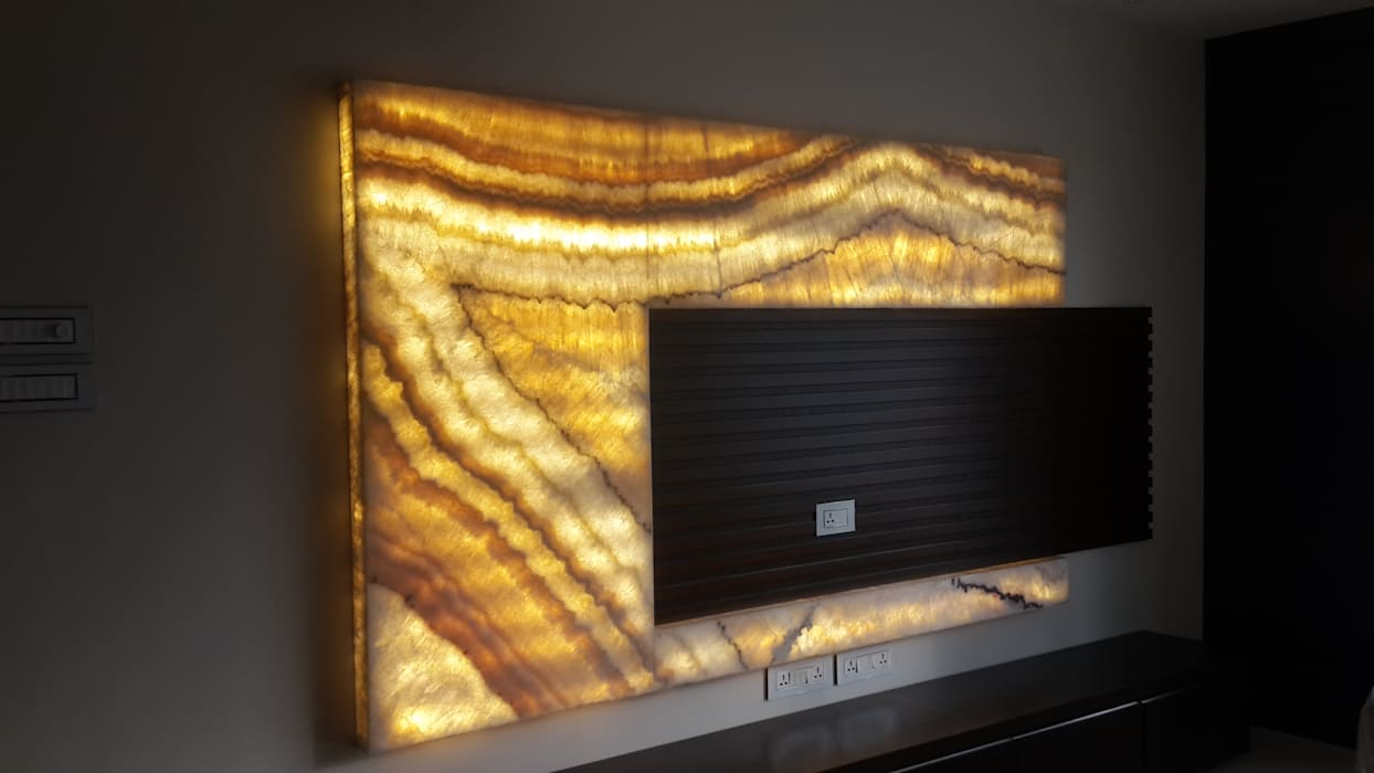 TV UNIT :  Living room by Arctistic design group