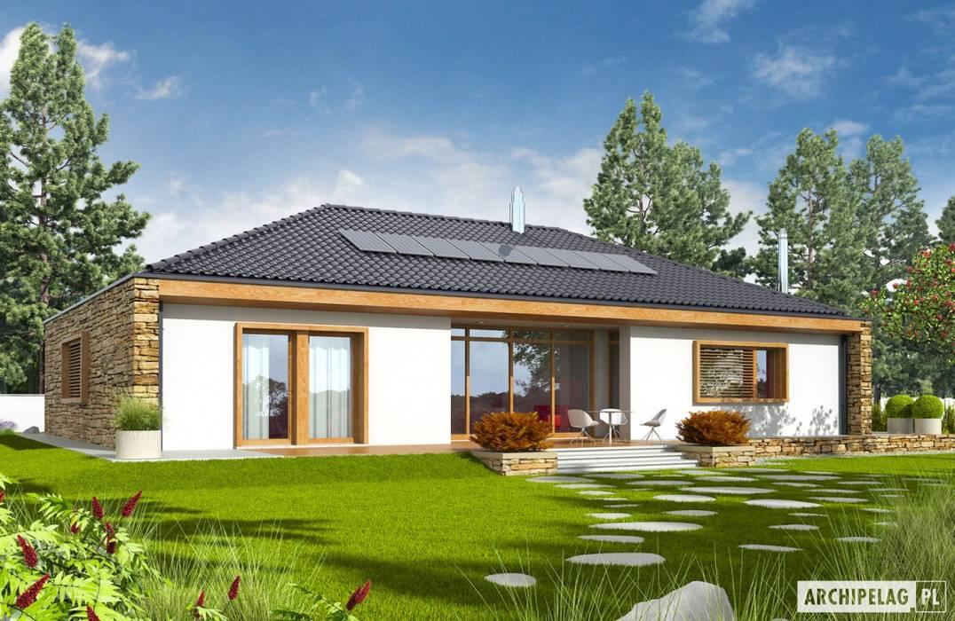 PROJEKT DOMU EX 8 G2 (wersja B) - design z najwyższej półki Nowoczesne domy od Pracownia Projektowa ARCHIPELAG Nowoczesny