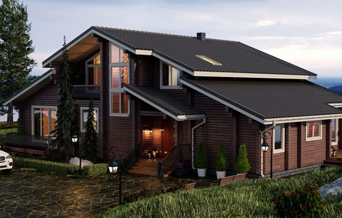 Casas de estilo escandinavo de GOOD WOOD Escandinavo