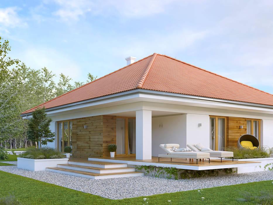 Wizualizacja projektu domu Ariel 5: styl , w kategorii Domy zaprojektowany przez Biuro Projektów MTM Styl - domywstylu.pl
