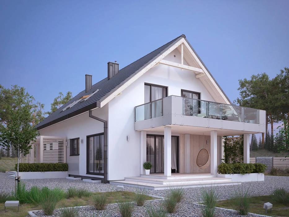 Wizualizacja projektu domu Amarylis 4: styl , w kategorii Domy zaprojektowany przez Biuro Projektów MTM Styl - domywstylu.pl