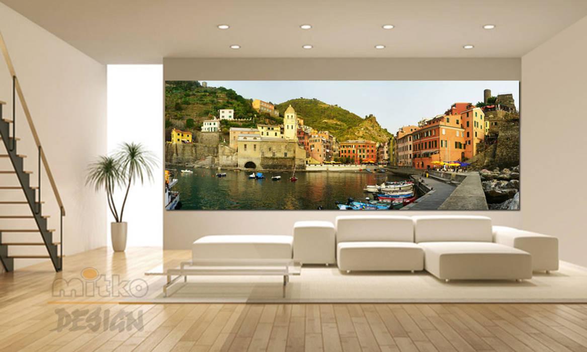 Xxl-glasbild im wohnzimmer : wohnzimmer von mitko design ...