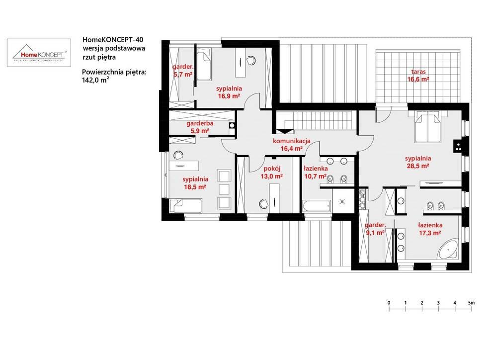 Projekt domu HomeKONCEPT 40 od HomeKONCEPT | Projekty Domów Nowoczesnych Nowoczesny
