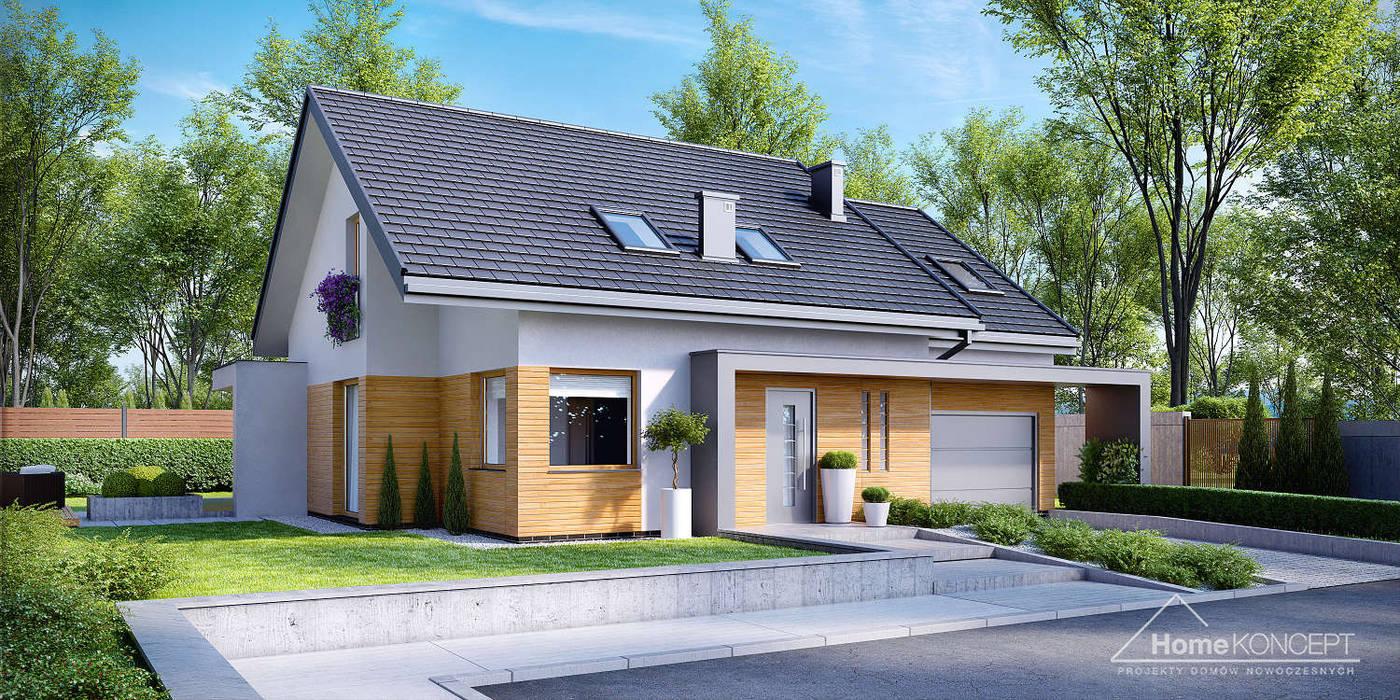 Casas de estilo  por HomeKONCEPT   Projekty Domów Nowoczesnych, Moderno