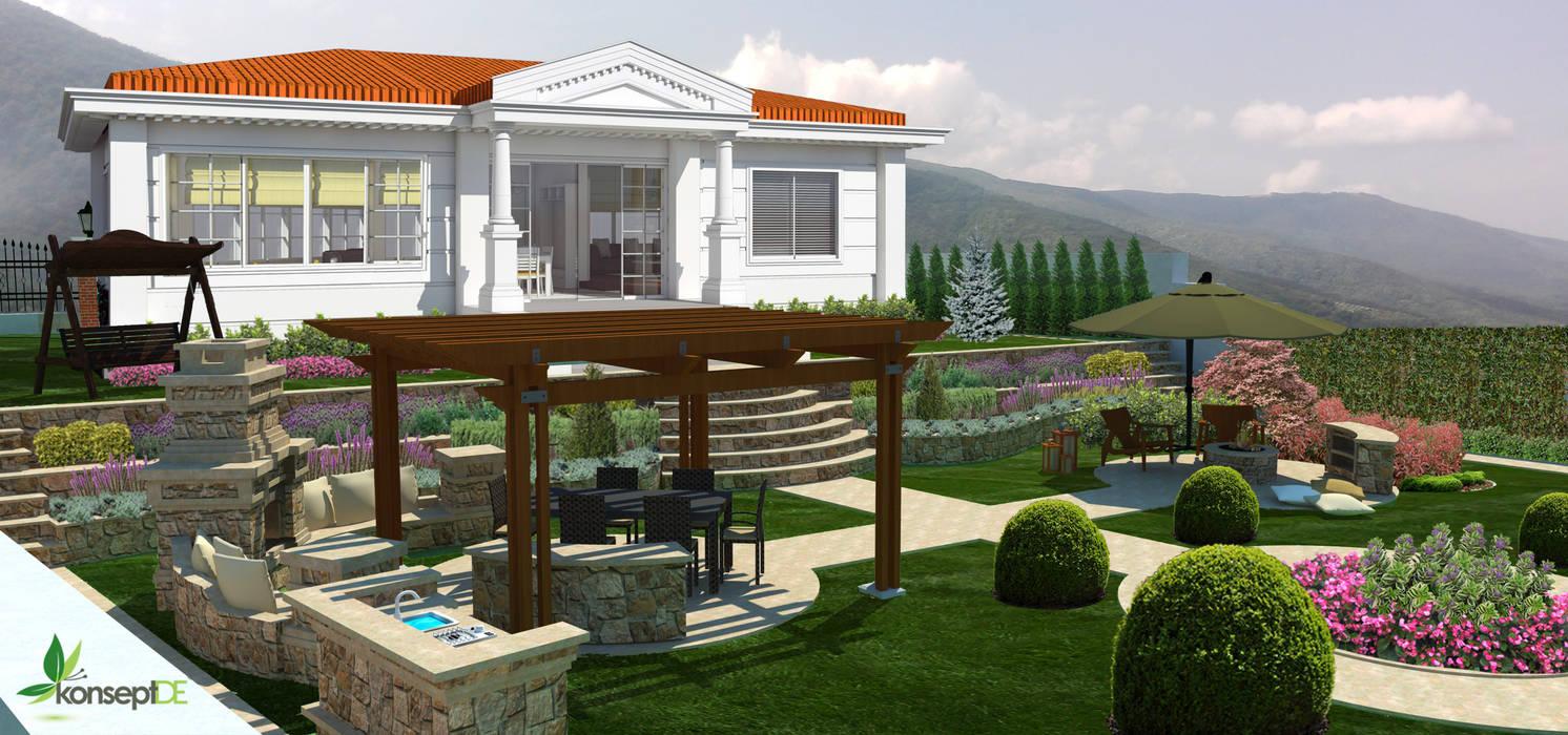 Orta bahçe Akdeniz Bahçe konseptDE Peyzaj Fidancılık Tic. Ltd. Şti. Akdeniz