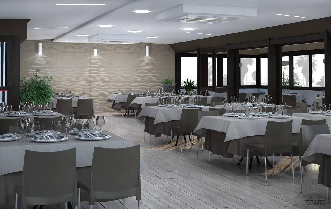 Design & Render - ristrutturazione ristorante S.Agata Militello (ME).: Negozi & Locali commerciali in stile  di Santoro Design Render