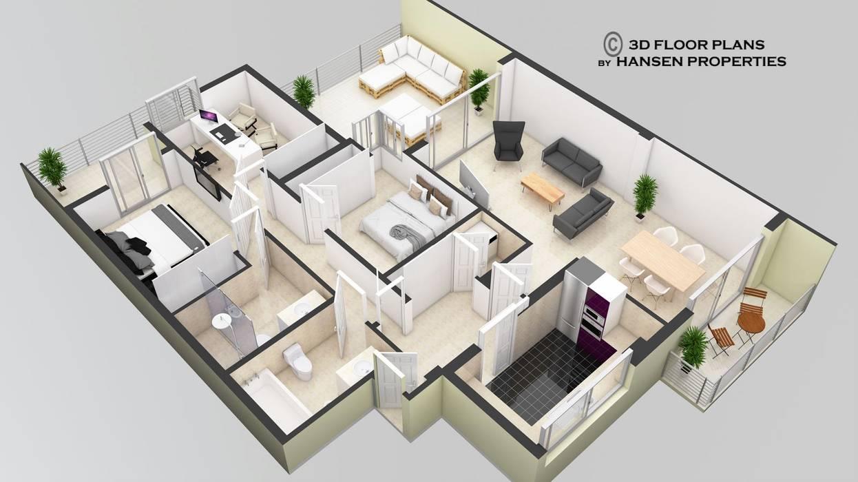 Plano 3d piso benalmadena de estilo de hansen properties for Software para planos de casas