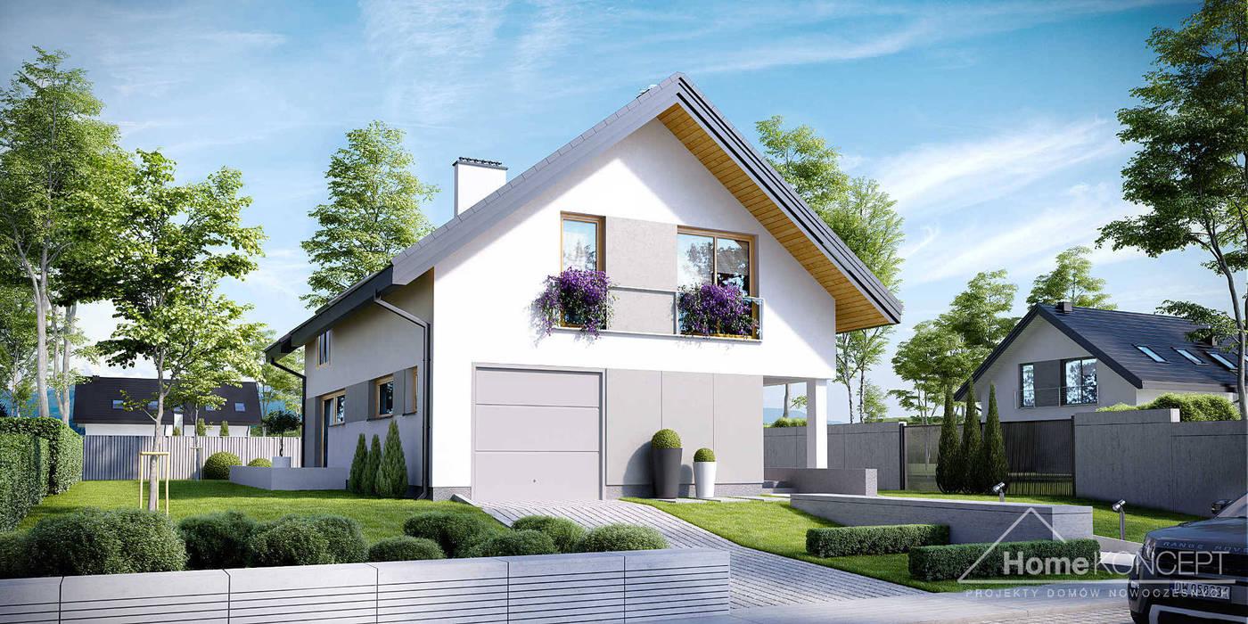 Projekt domu HomeKONCEPT 25 od HomeKONCEPT | Projekty Domów Nowoczesnych Nowoczesny