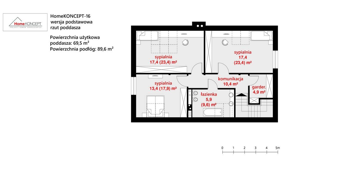 Projekt domu HomeKONCEPT 16 od HomeKONCEPT | Projekty Domów Nowoczesnych Nowoczesny