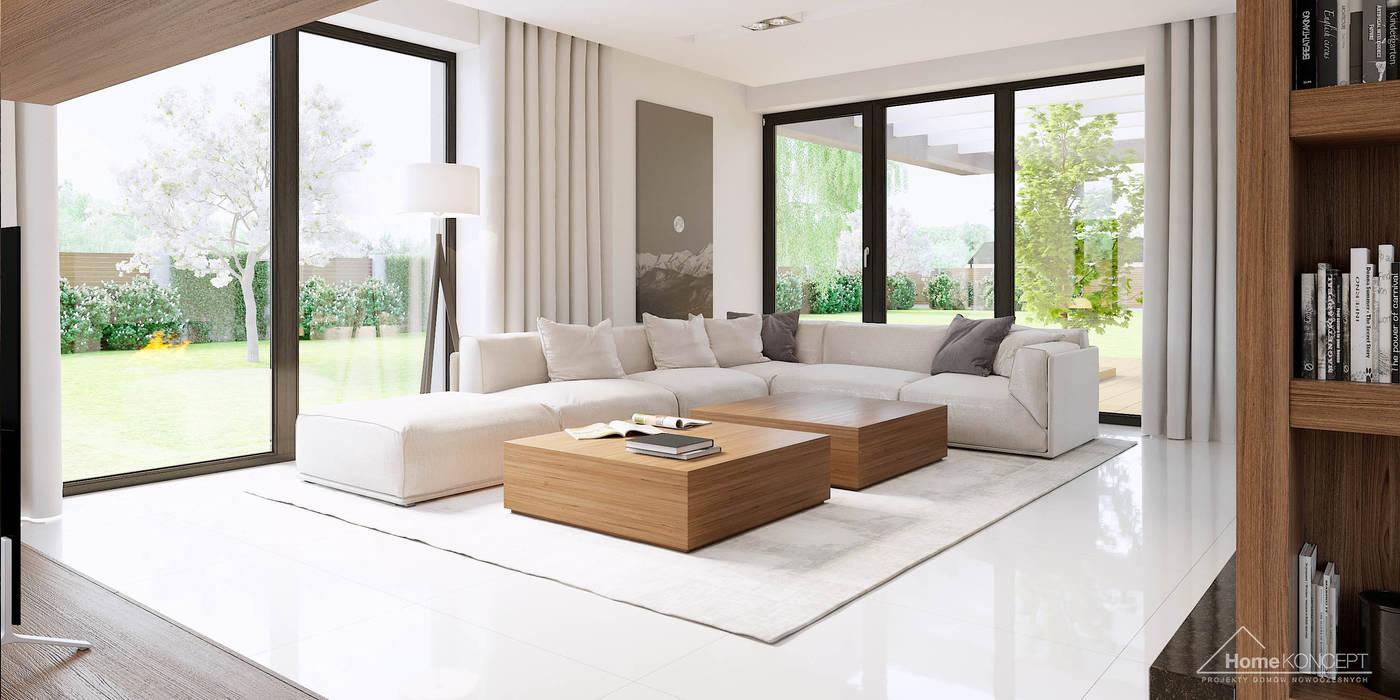 Projekt domu HomeKONCEPT-15- wnętrze: styl , w kategorii Salon zaprojektowany przez HomeKONCEPT | Projekty Domów Nowoczesnych