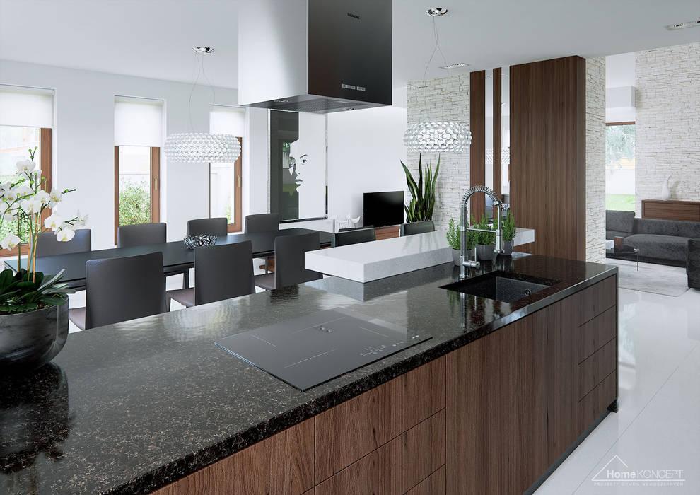 Modern style kitchen by HomeKONCEPT | Projekty Domów Nowoczesnych Modern