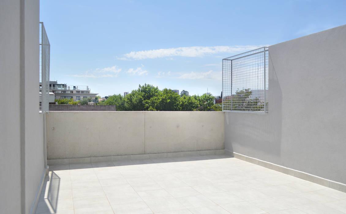 Terraza urbana: Terrazas de estilo  por F2M Arquitectos