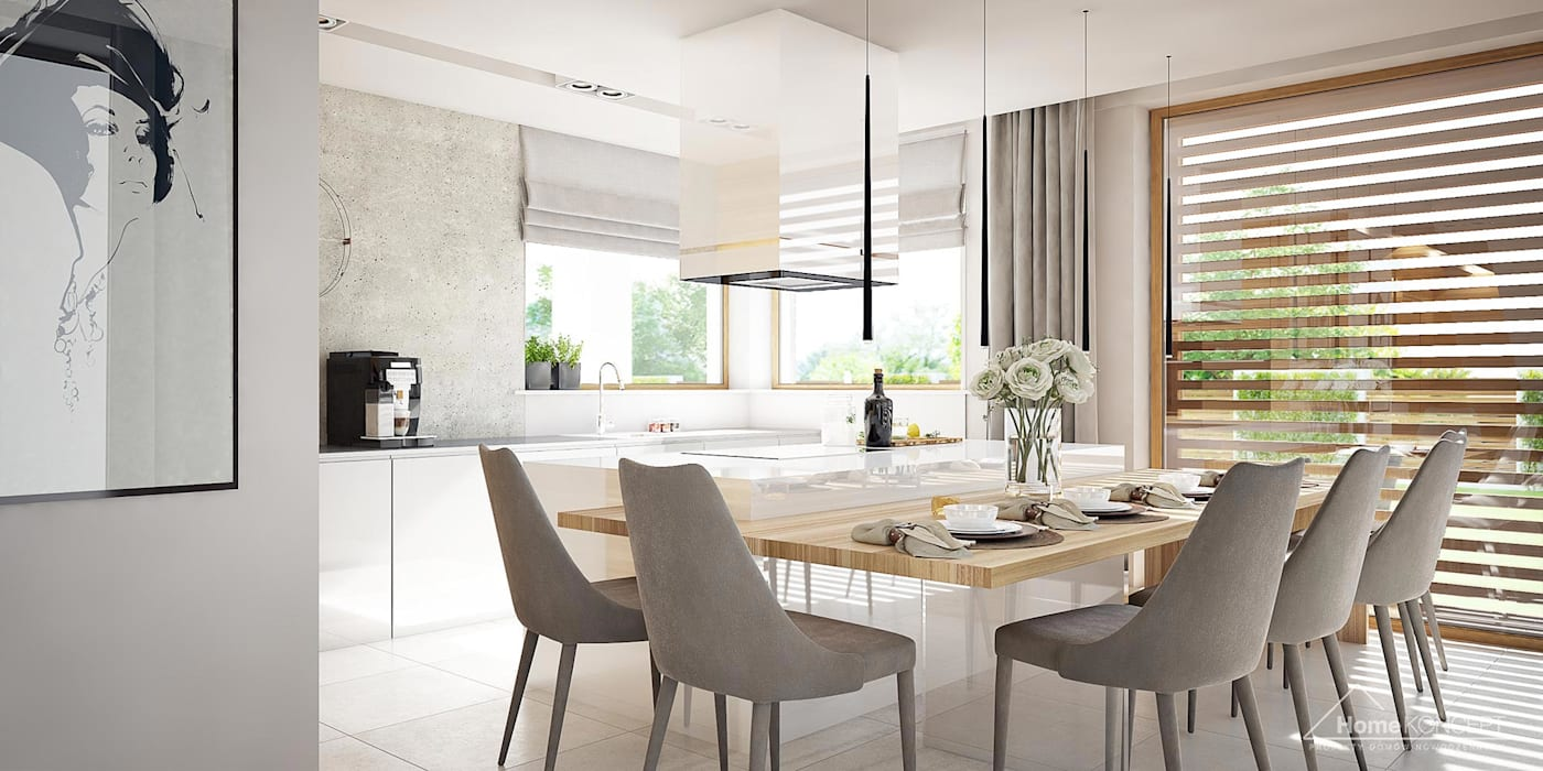 Ruang Makan Modern Oleh HomeKONCEPT | Projekty Domów Nowoczesnych Modern