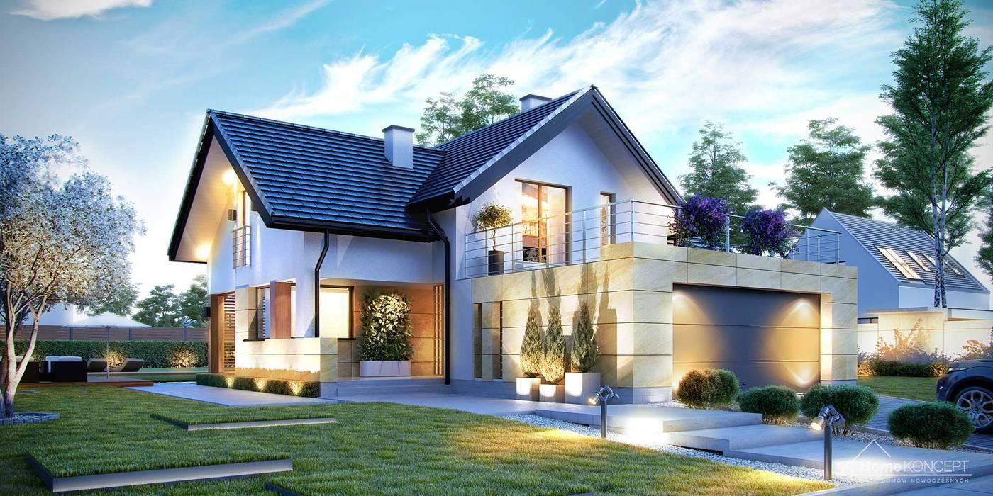 Дома в . Автор – HomeKONCEPT | Projekty Domów Nowoczesnych, Модерн