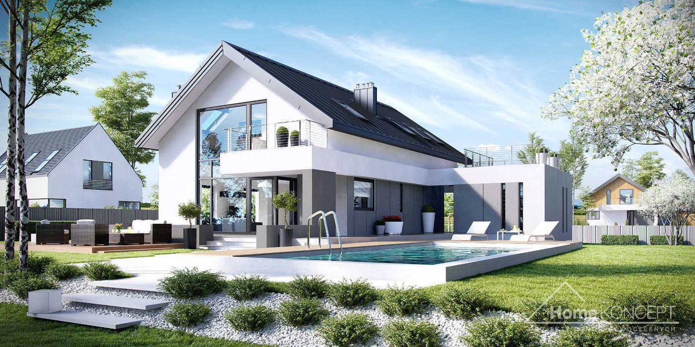 Projekt domu HomeKONCEPT-02: styl , w kategorii Domy zaprojektowany przez HomeKONCEPT | Projekty Domów Nowoczesnych
