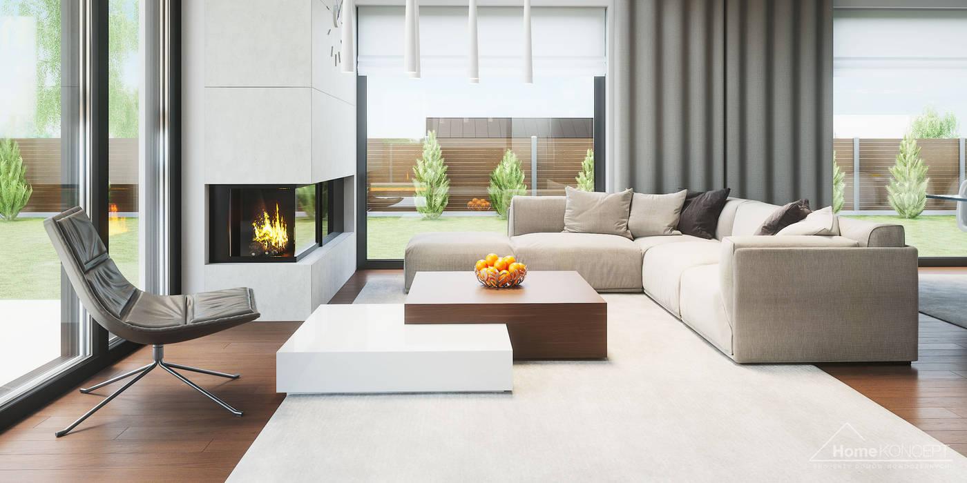 Living room by HomeKONCEPT   Projekty Domów Nowoczesnych, Modern