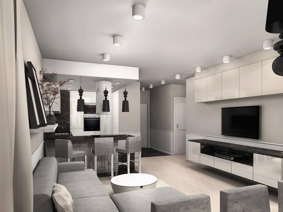 Salas de estar modernas por ZAZA studio Moderno