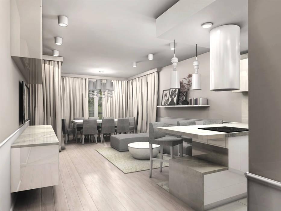 Ruang Keluarga Modern Oleh ZAZA studio Modern