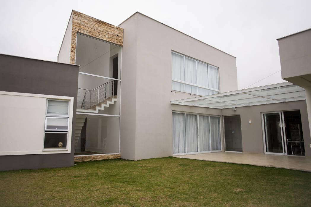 Fachada Posterior L2 Arquitetura Casas modernas Concreto Cinza