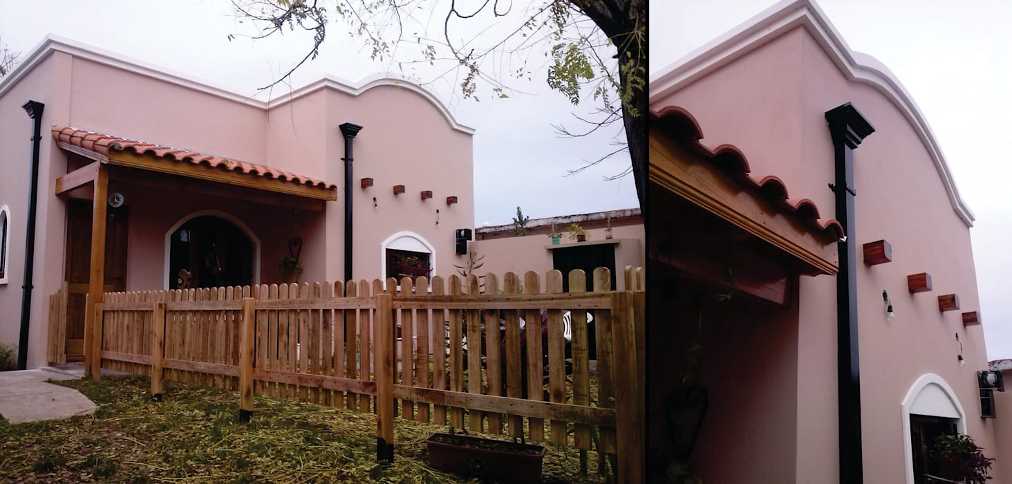 MONARQ ESTUDIO Colonial style houses Pink