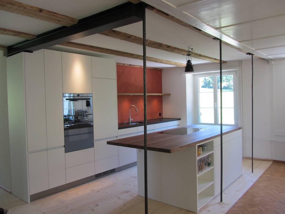 Kochinsel Mit Essbereich Kuche Von Mader Marti Architektur Eth Sia